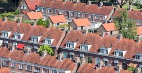 dakkapel woonwijk luchtfoto